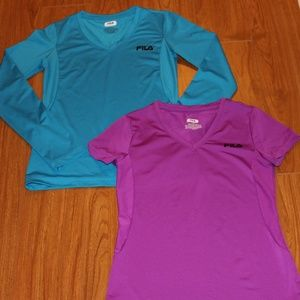 Pair of Girls FILA SPORT Tops Size 14